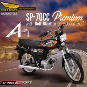 Self Start Super Power 70CC Premium BLACK
